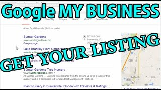 Claiming Your Google My Business Listing